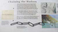 Click to enlarge sign about Chaining the Hudson in the American Revolution