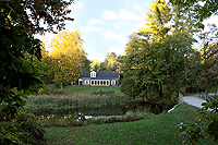 Click to enlarge photo of Eleanor Roosevelt's Val-Kill Cottage landscape.