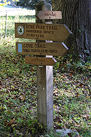 Click to enlarge photo of signs on the FDR hiking trails.